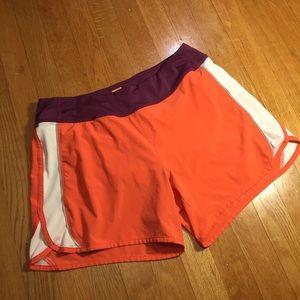 Lucy coral orange plum running shorts Lucyflex